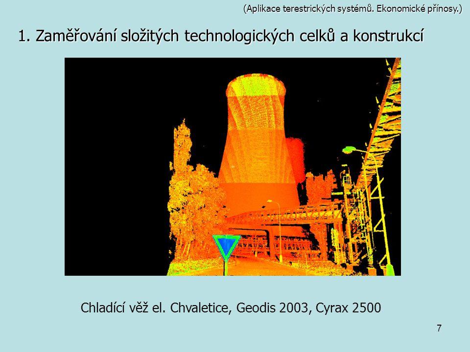 Chladící věž el. Chvaletice, Geodis 2003, Cyrax 2500