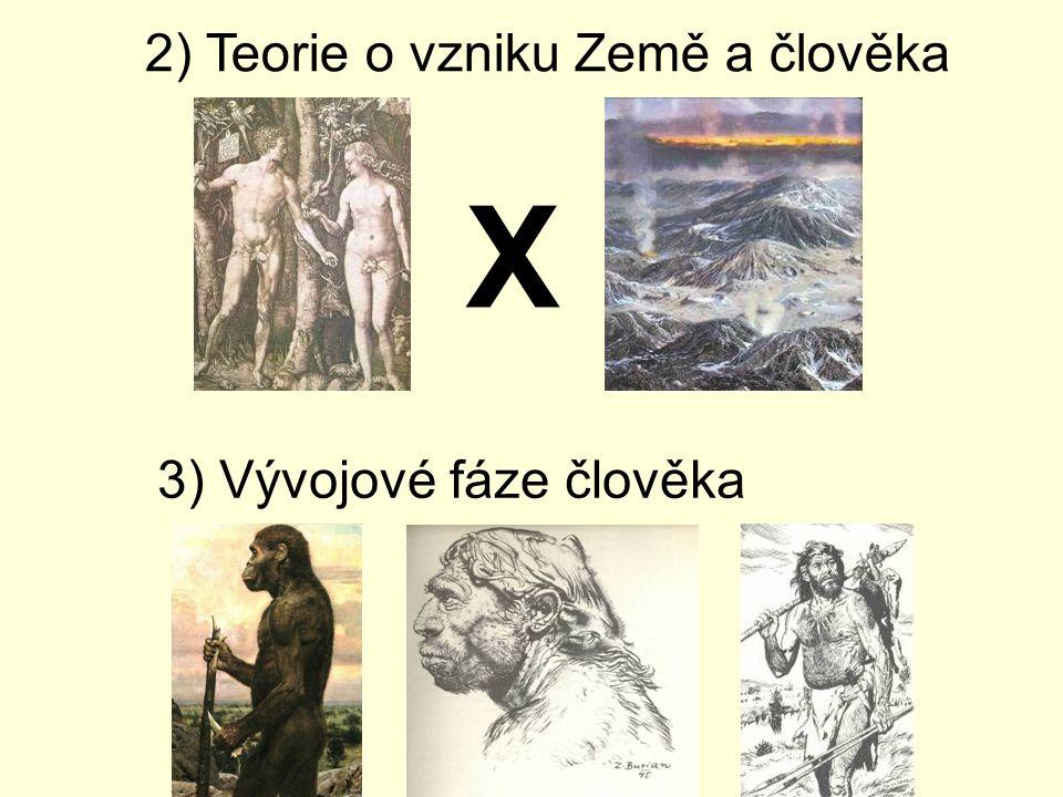 2) Teorie o vzniku Země a člověka