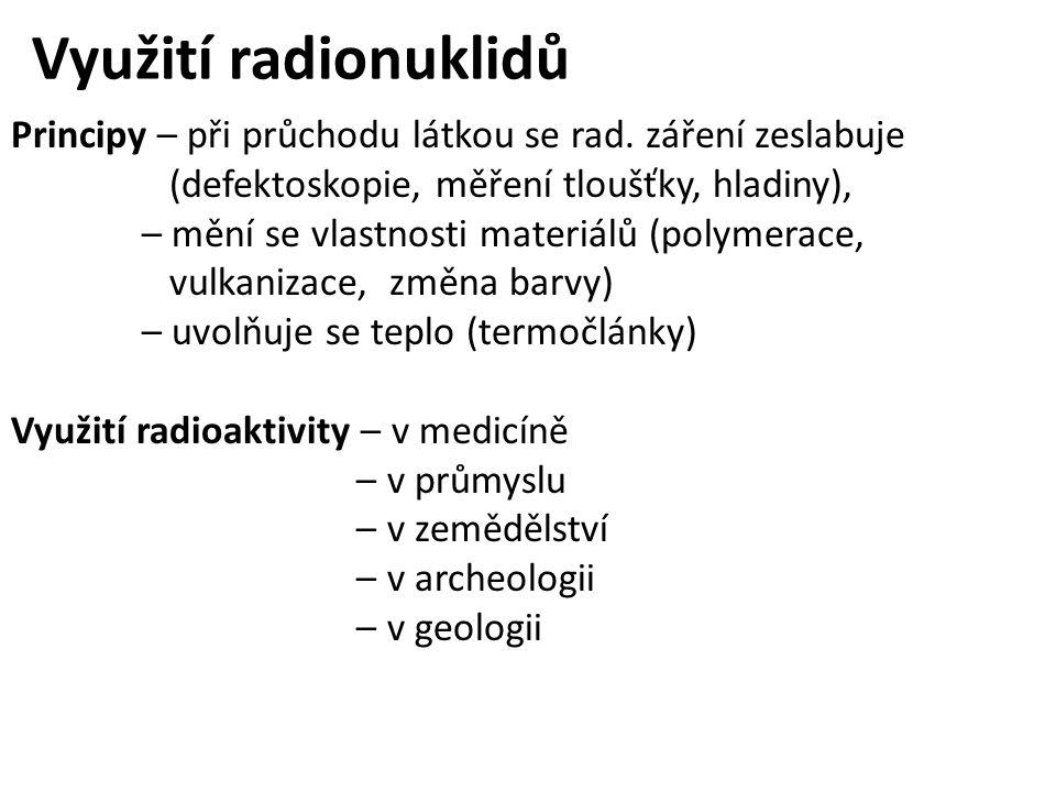 Využití radionuklidů