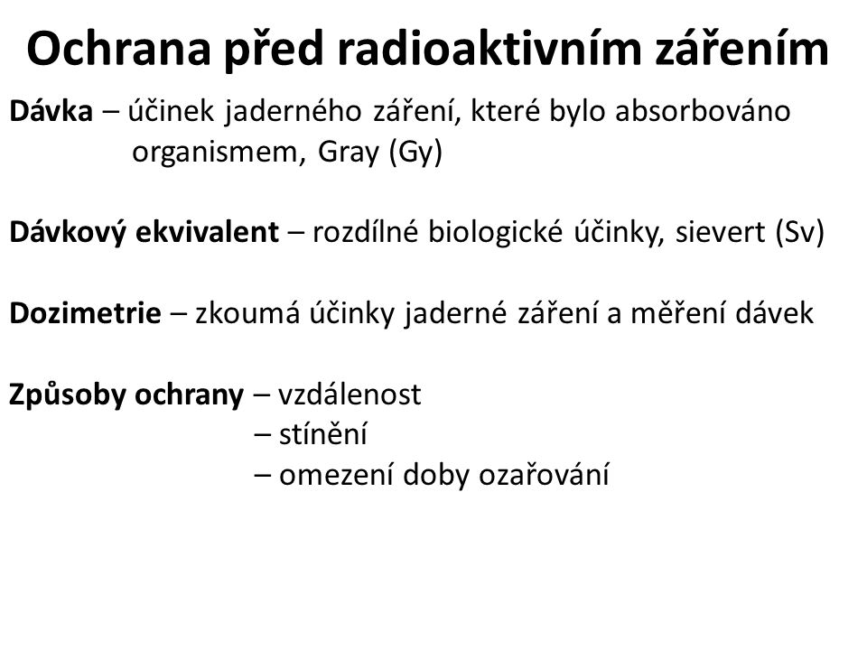 Ochrana před radioaktivním zářením