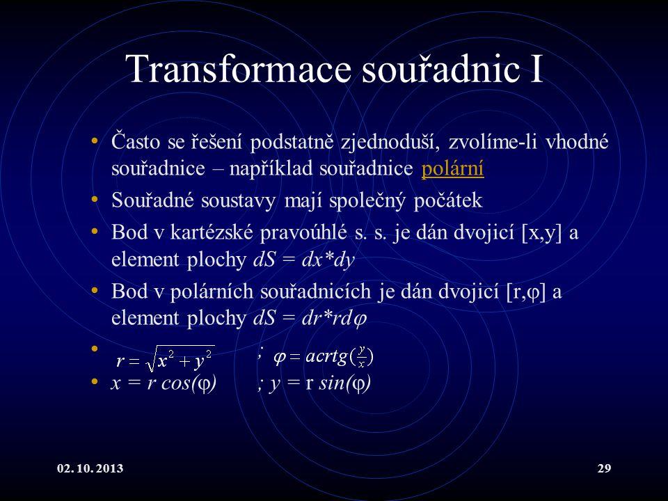 Transformace souřadnic I