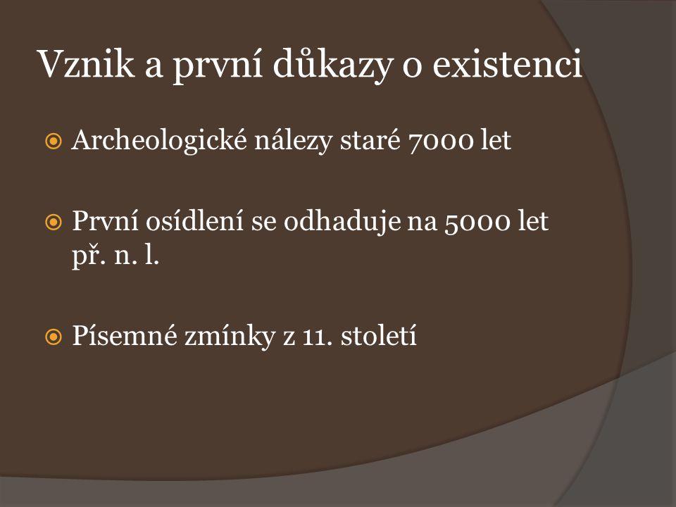Vznik a první důkazy o existenci