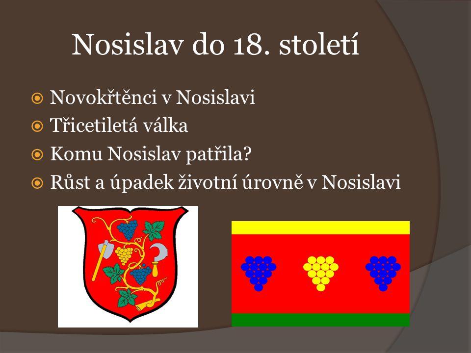 Nosislav do 18. století Novokřtěnci v Nosislavi Třicetiletá válka