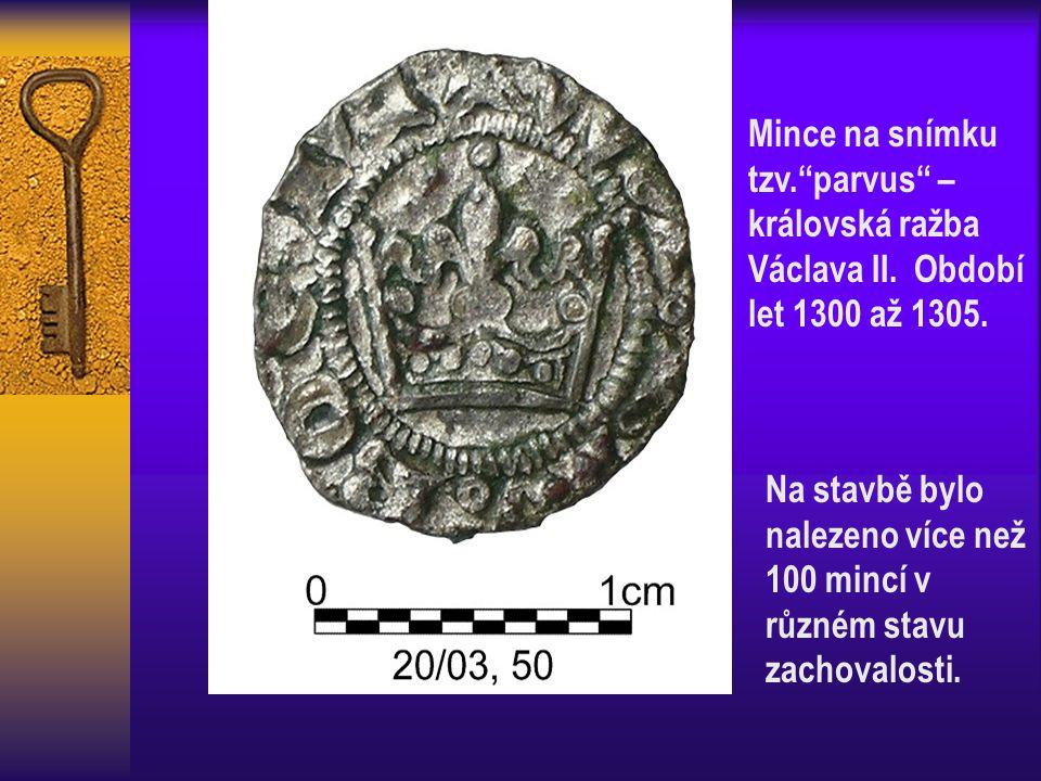 Mince na snímku tzv. parvus – královská ražba Václava II