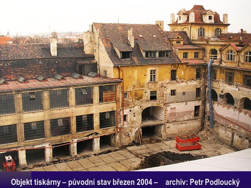 Objekt tiskárny – původní stav březen 2004 – archiv: Petr Podloucký