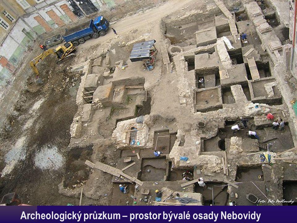 Archeologický průzkum – prostor bývalé osady Nebovidy