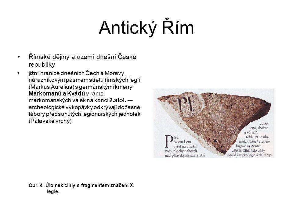 Antický Řím Římské dějiny a území dnešní České republiky