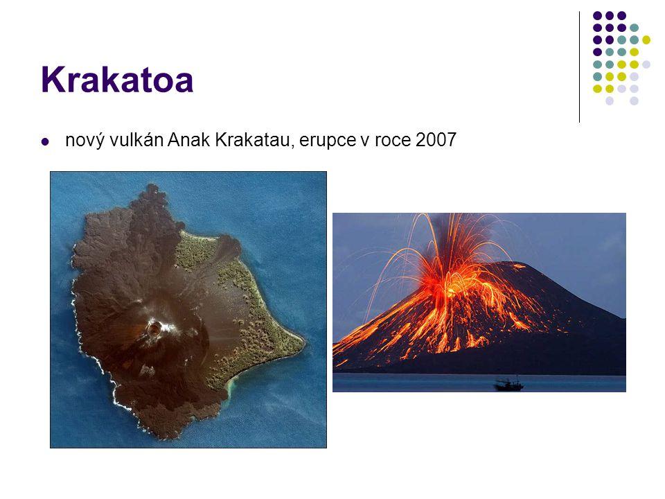 Krakatoa nový vulkán Anak Krakatau, erupce v roce 2007