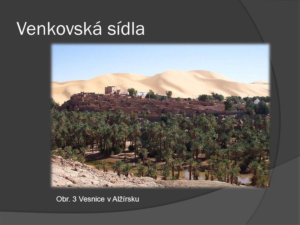 Venkovská sídla Obr. 3 Vesnice v Alžírsku