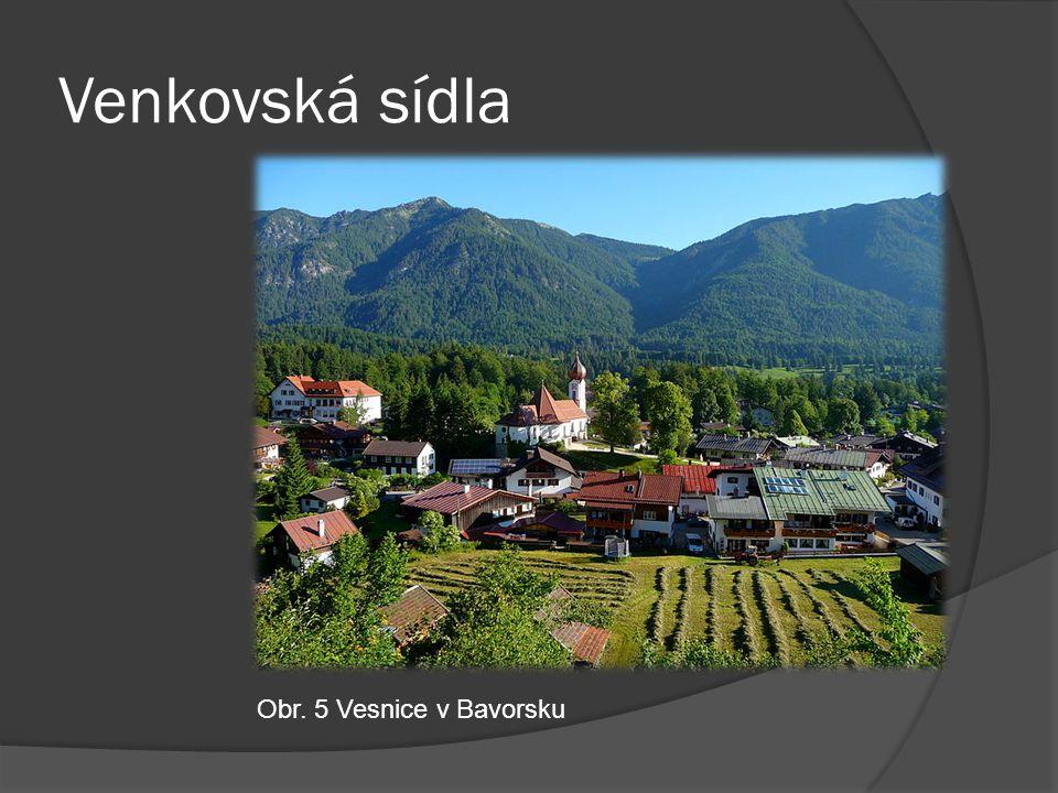 Venkovská sídla Obr. 5 Vesnice v Bavorsku