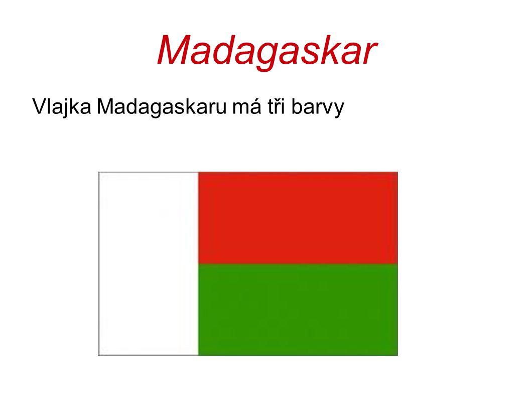 Madagaskar Vlajka Madagaskaru má tři barvy