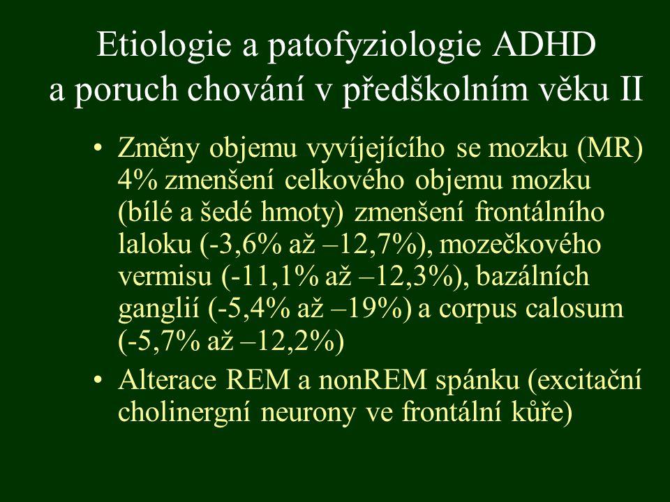 Etiologie a patofyziologie ADHD a poruch chování v předškolním věku II