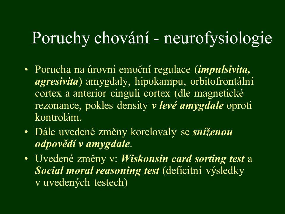 Poruchy chování - neurofysiologie