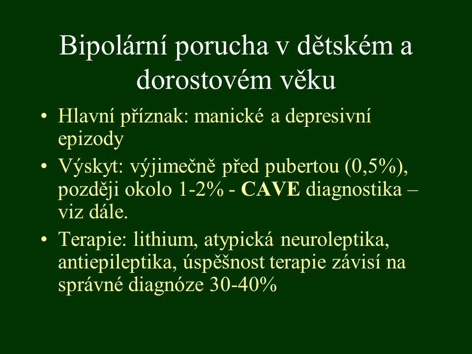 Bipolární porucha v dětském a dorostovém věku