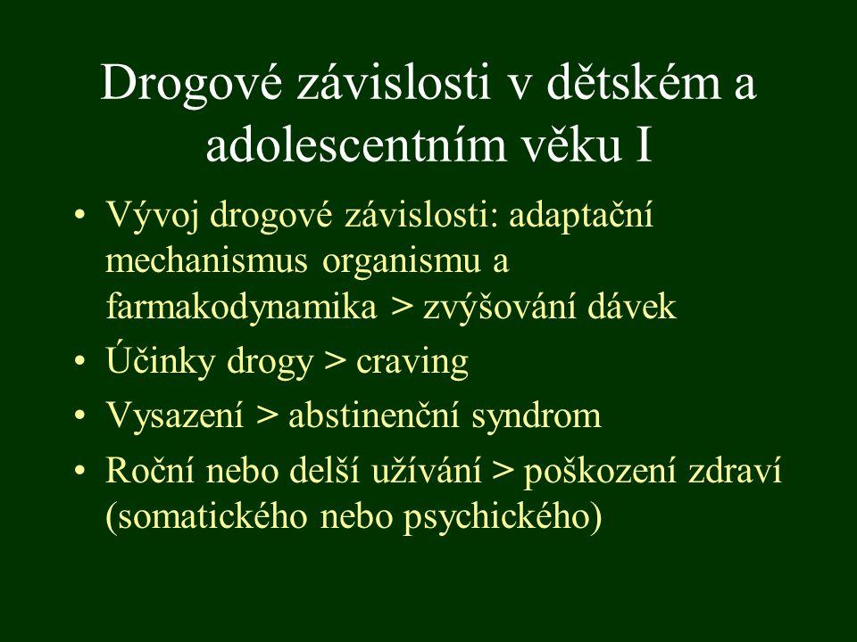 Drogové závislosti v dětském a adolescentním věku I