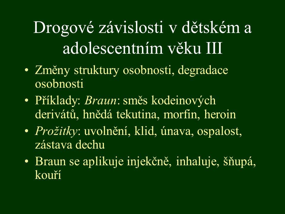 Drogové závislosti v dětském a adolescentním věku III