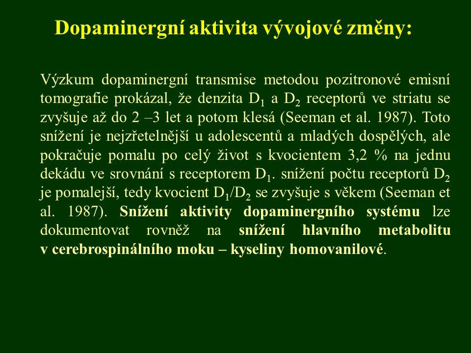 Dopaminergní aktivita vývojové změny: