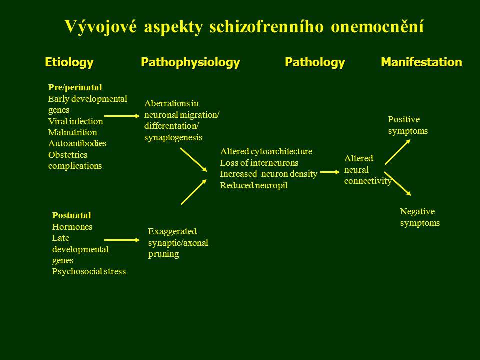 Vývojové aspekty schizofrenního onemocnění