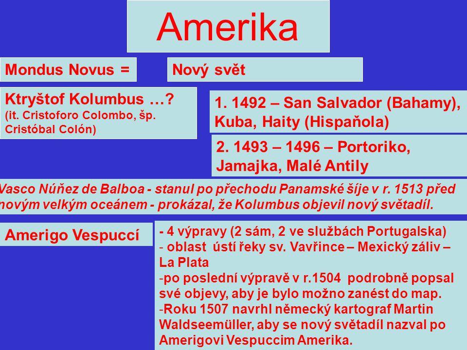 Amerika Mondus Novus = Nový svět
