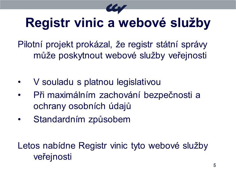 Registr vinic a webové služby