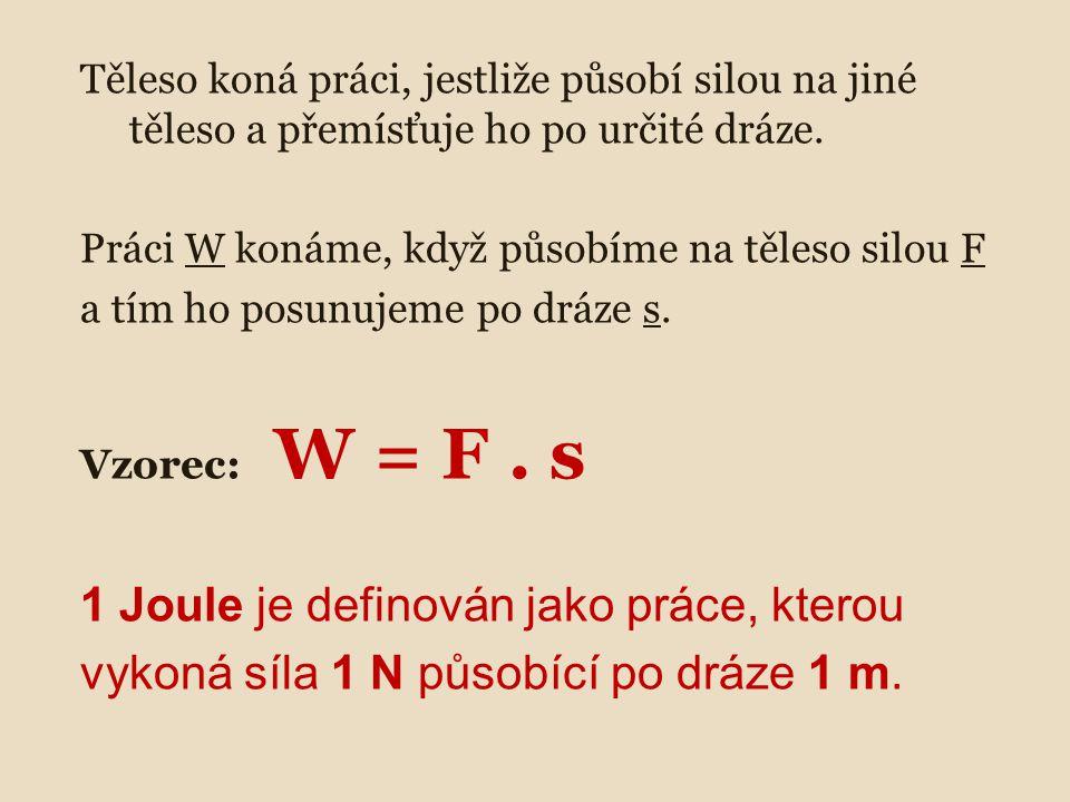 1 Joule je definován jako práce, kterou
