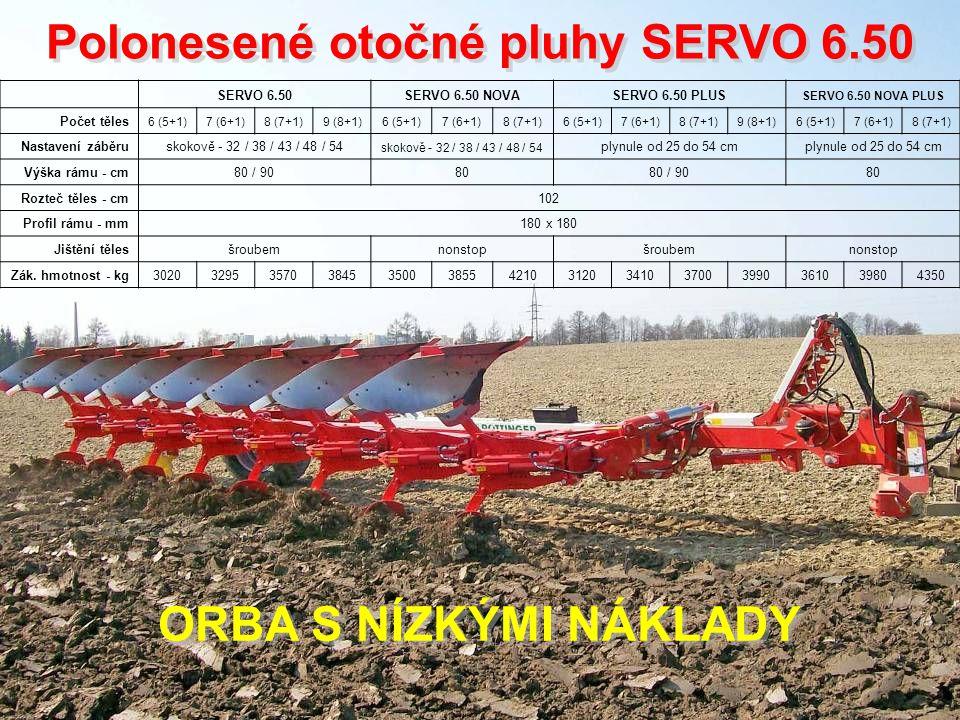 Polonesené otočné pluhy SERVO 6.50