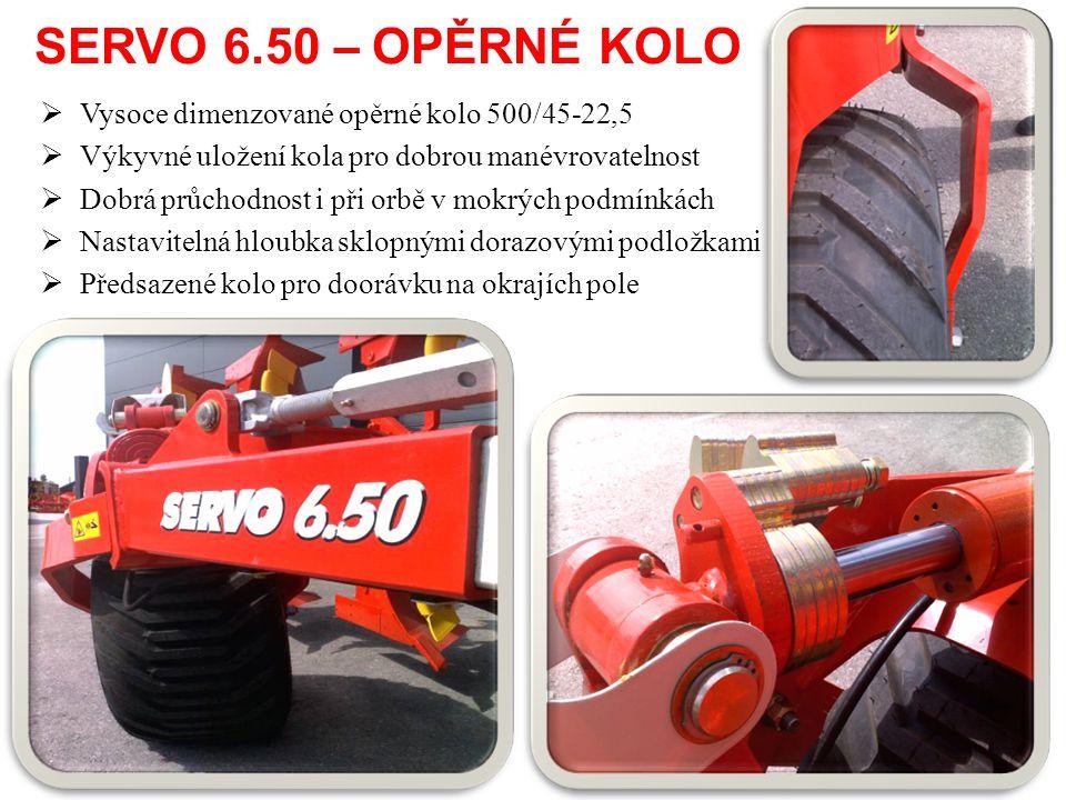 SERVO 6.50 – OPĚRNÉ KOLO Vysoce dimenzované opěrné kolo 500/45-22,5