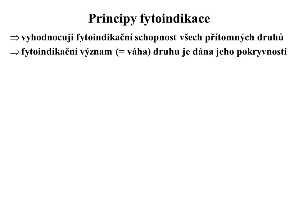 Principy fytoindikace