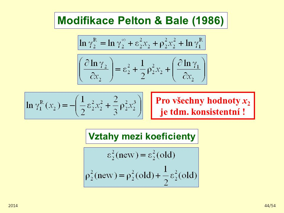 Modifikace Pelton & Bale (1986)