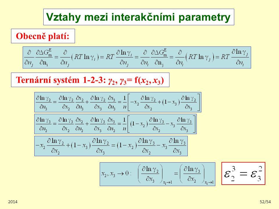 Ternární systém 1-2-3: γ2, γ3= f(x2, x3)