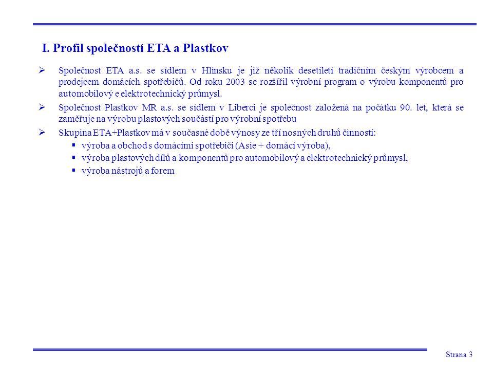 I. Profil společností ETA a Plastkov