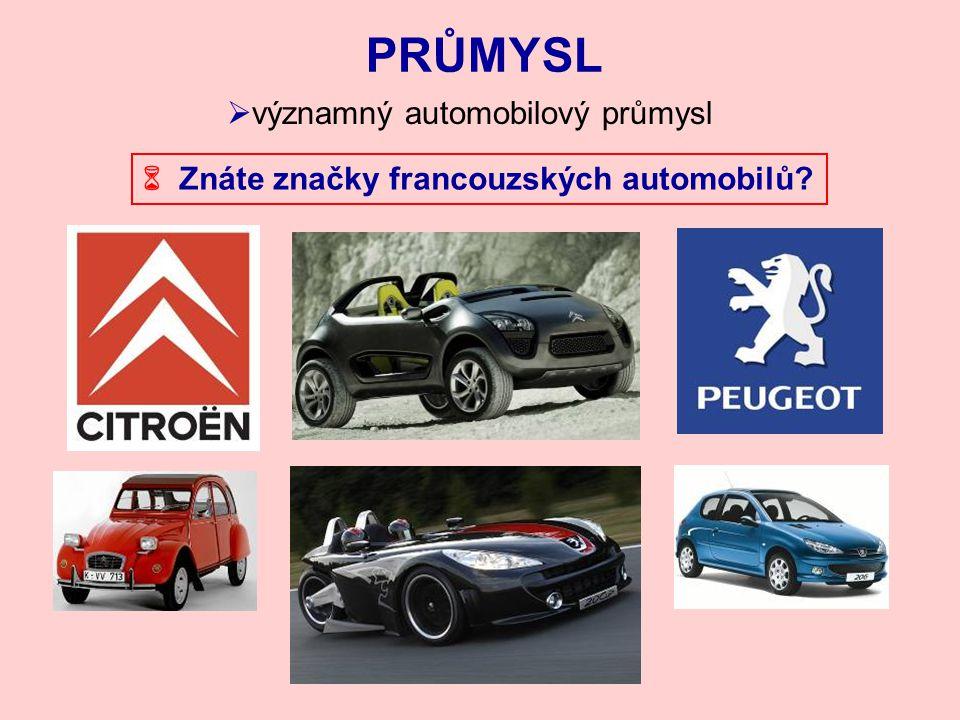 PRŮMYSL významný automobilový průmysl