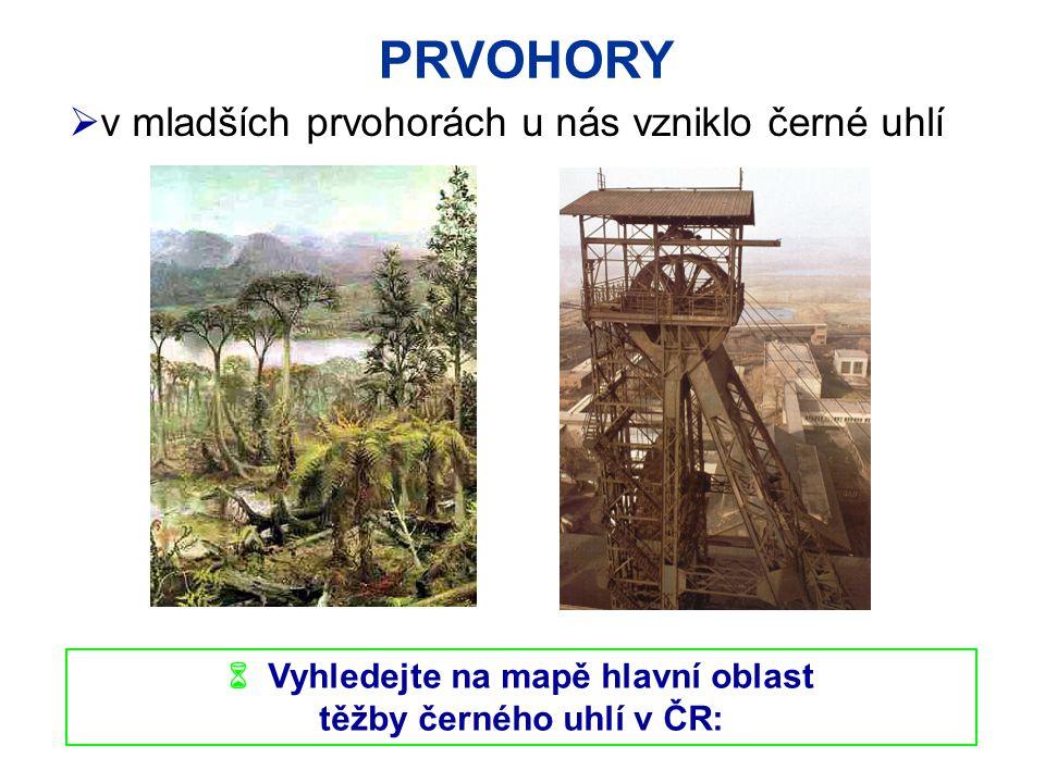  Vyhledejte na mapě hlavní oblast těžby černého uhlí v ČR: