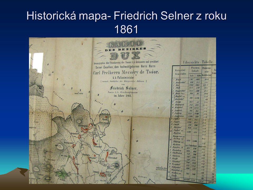Historická mapa- Friedrich Selner z roku 1861