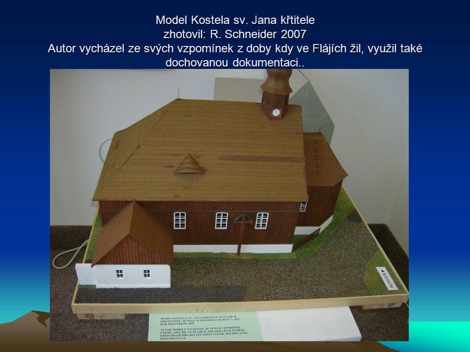 Model Kostela sv. Jana křtitele zhotovil: R