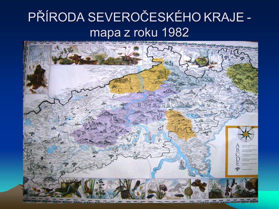 PŘÍRODA SEVEROČESKÉHO KRAJE -mapa z roku 1982