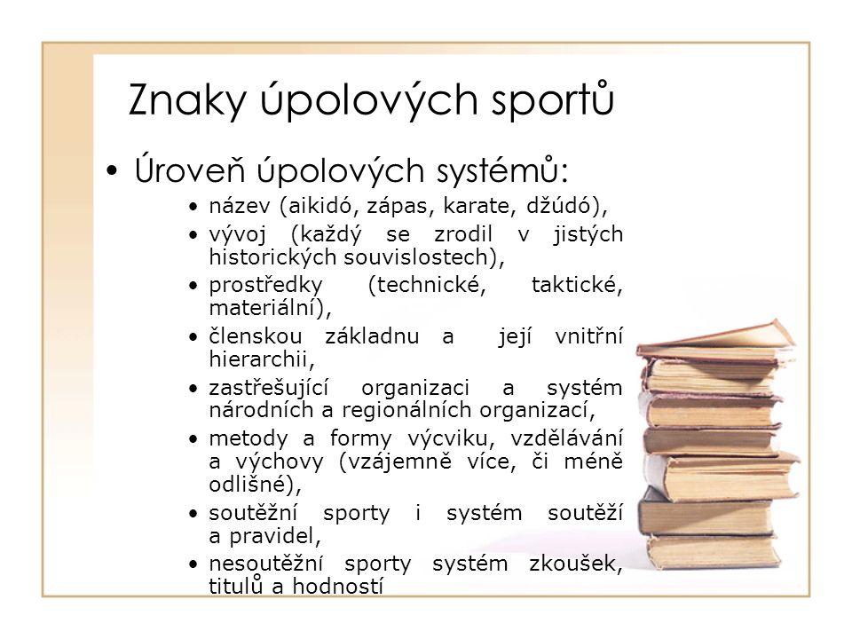 Znaky úpolových sportů