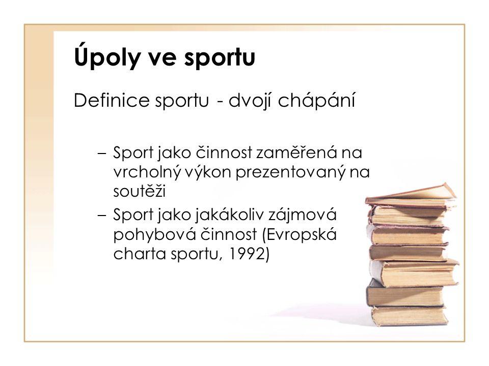 Úpoly ve sportu Definice sportu - dvojí chápání
