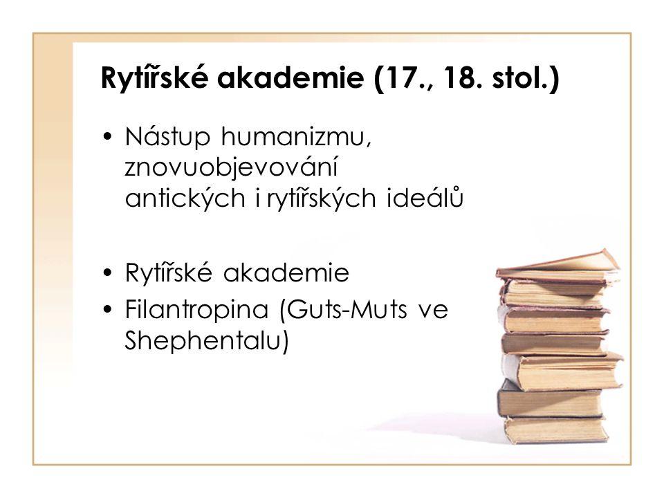Rytířské akademie (17., 18. stol.)