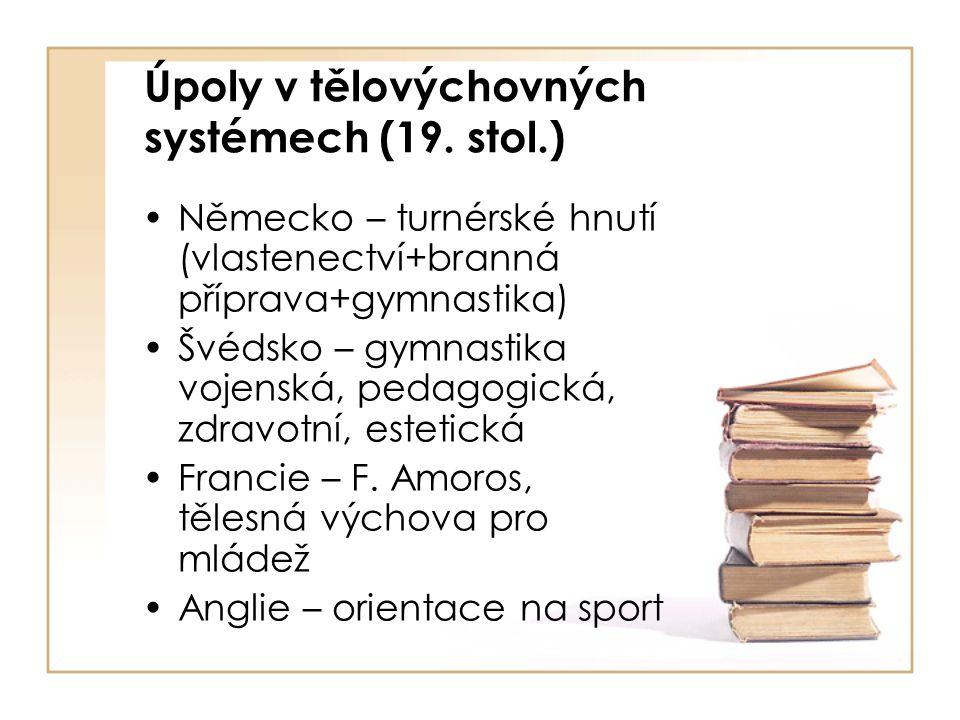 Úpoly v tělovýchovných systémech (19. stol.)