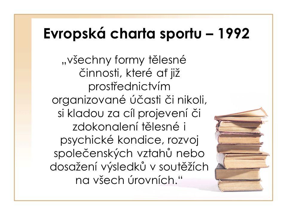 Evropská charta sportu – 1992