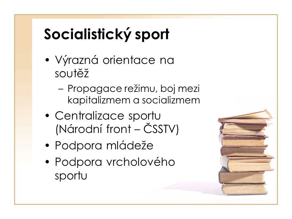 Socialistický sport Výrazná orientace na soutěž