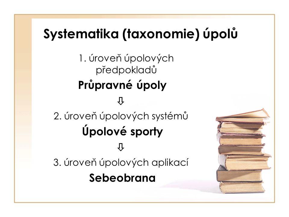 Systematika (taxonomie) úpolů