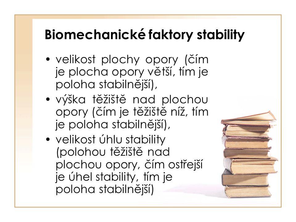 Biomechanické faktory stability