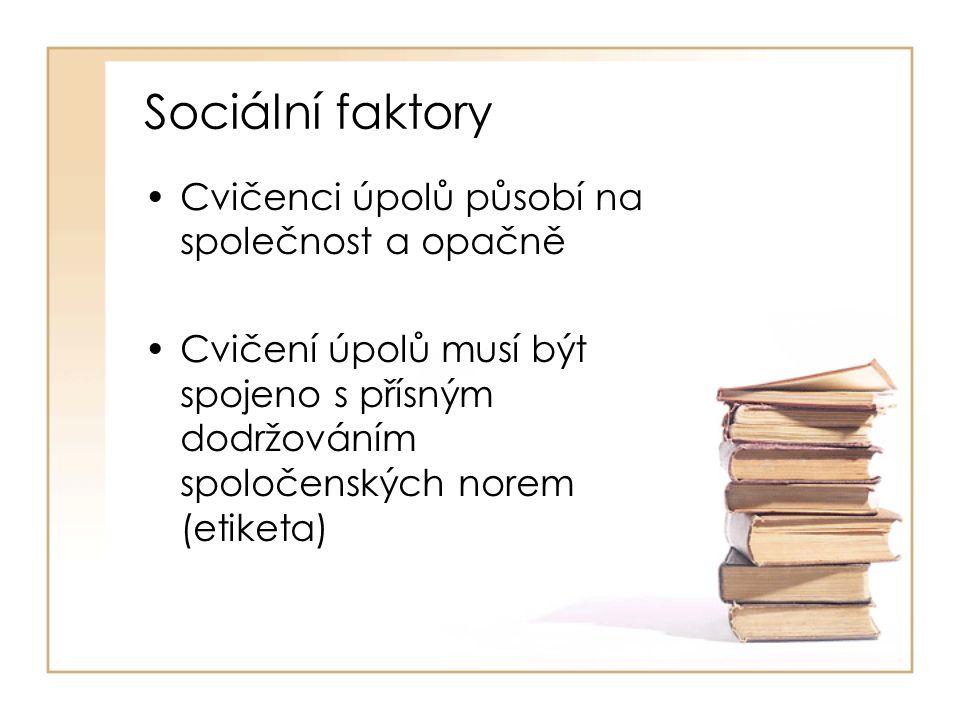 Sociální faktory Cvičenci úpolů působí na společnost a opačně
