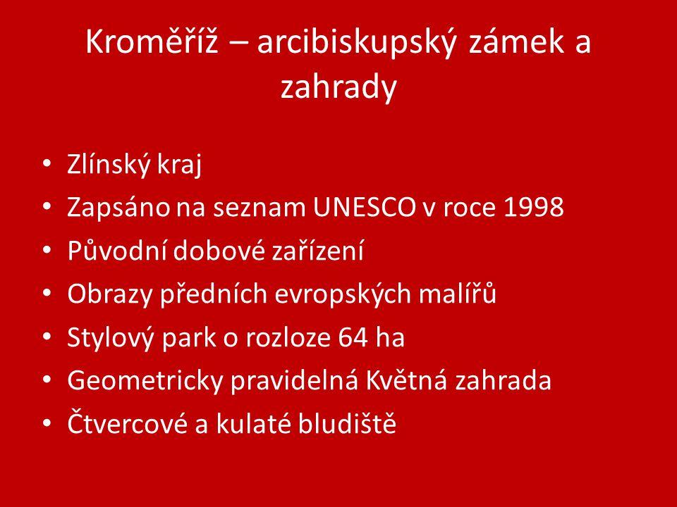 Kroměříž – arcibiskupský zámek a zahrady