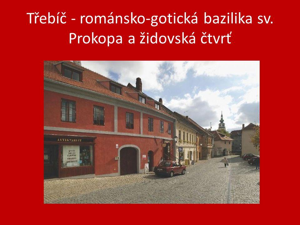 Třebíč - románsko-gotická bazilika sv. Prokopa a židovská čtvrť