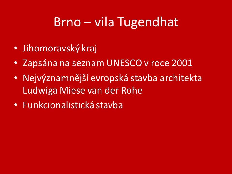 Brno – vila Tugendhat Jihomoravský kraj