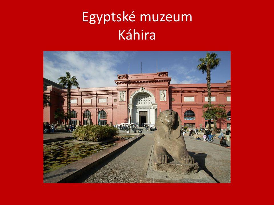 Egyptské muzeum Káhira