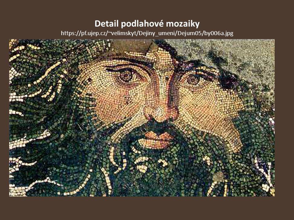 Detail podlahové mozaiky https://pf. ujep